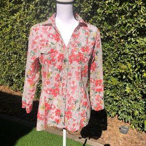 Anthropologie Eden & Olivia Floral Shirt